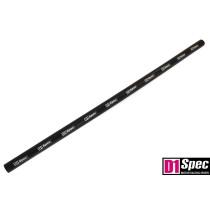 Szilikon összekötő, egyenes D1Spec Fekete 12mm 100cm